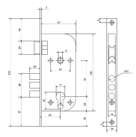 Схема дверного замка apecs
