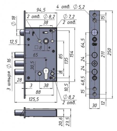 Схема дверного замка - Крит А8